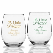 Little Prince Personalized Stemless Wine Glasses (9 oz or 15 oz)