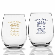 Two Are Better Than One Personalized Stemless Wine Glasses (9 oz or 15 oz)
