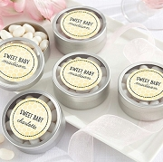 Sweet As Can Bee Honeycomb Silver Round Mint Tins (set of 12)
