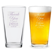 Thank You Personalized 16 oz Pint Glass