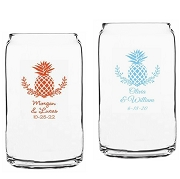 Palm Beach Tropical Pineapple Beer Can Glass (16 oz)