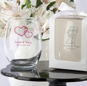 Personalized Stemless Wine Glass Wedding Favors (9 oz)