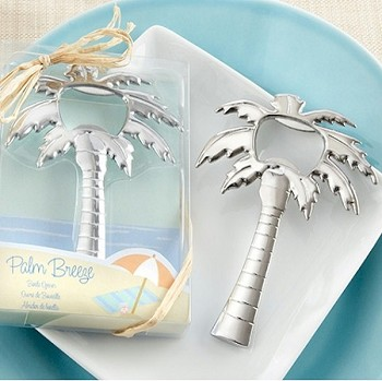 Palm Breeze Chrome Palm Tree Bottle Opener