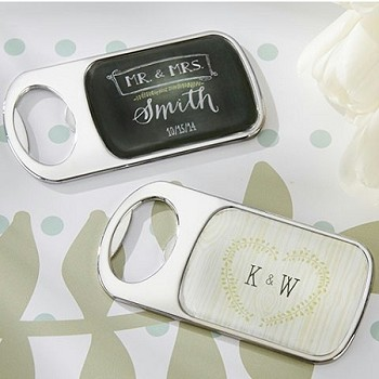 Personalized Silver Metal Bottle Openers