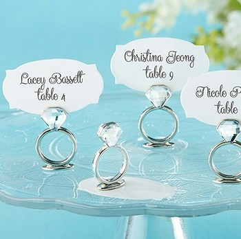 With This Ring Jeweled Placecard Holder (Set of 6)