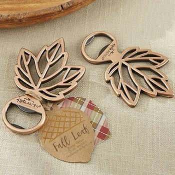 Copper Leaf Bottle Opener Fall Favors