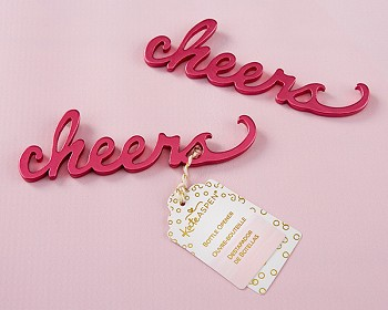 Cheers Pink Bottle Opener Favors