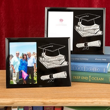 Graduation Themed Glass Frame - Graduation Ceremony Picture Frame