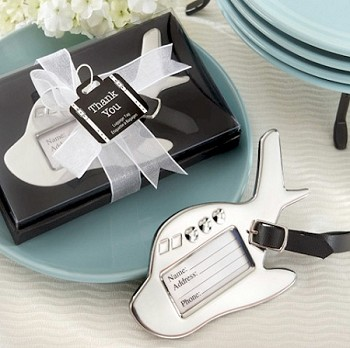 Airplane Luggage Tag with Suitcase Tag