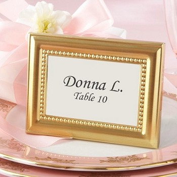 Beaded Gold Photo Frame and Place Card Holder