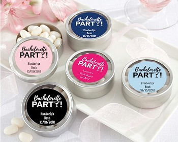 Personalized Bachelorette Party Mint Tin Favors (Set of 12)