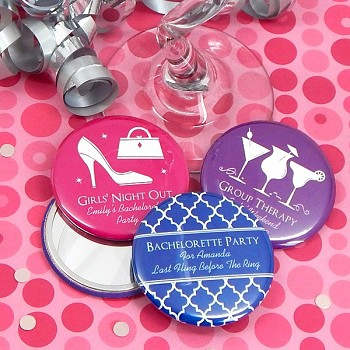 Personalized Compact Mirrors Bridal Shower Favors