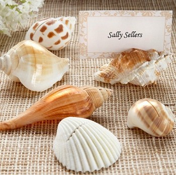 Sea Shell Placecard Holder Favors (set of 6)