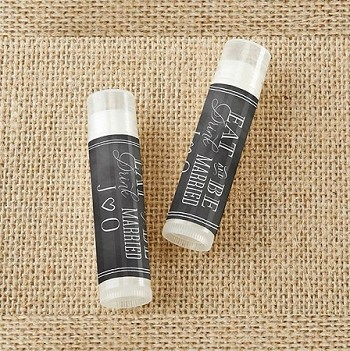 Personalized Lip Balm - Eat, Drink & Be Married (set of 12)