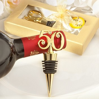 Golden 50 Wine Bottle Stoppers