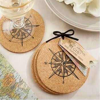 Let the Journey Begin Cork Coasters Set of 4