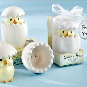 About to Hatch Baby Chick Salt & Pepper Shakers