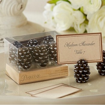 Pinecone Place Card and Photo Holders (set of 6)