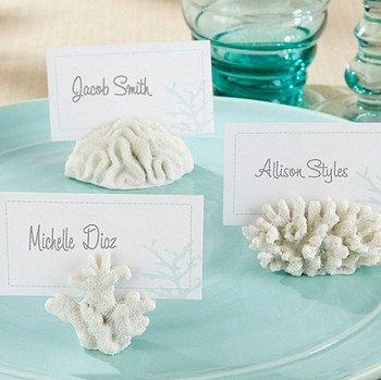 Seven Seas Coral Place Card Holder (set of 6)