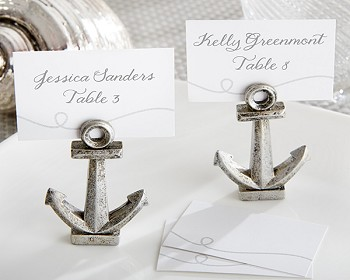 Nautical Anchor Place Card Holder (set of 6)