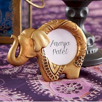 Lucky Golden Elephant Placecard Frame