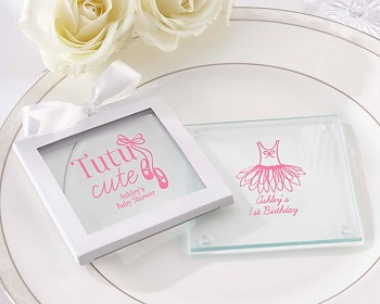 Personalized Glass Coaster - Tutu Cute (Set of 12)