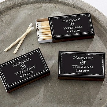 Matchbox Favors Chalkboard Design (Set of 50)