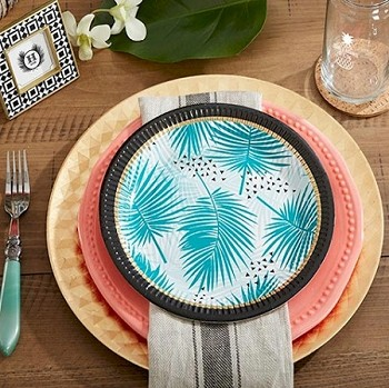 Tropical Chic Paper Plates (Pack of 8 Plates)