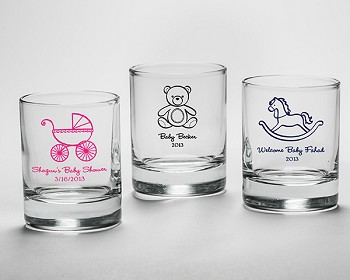 Personalized Baby Shower Shot Glass Favors (3.5 oz)
