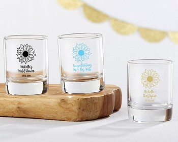 Personalized Shot Glass/Votive Holder - Sunflower