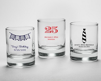 Personalized Shot Glass/Votive Holder - Birthday