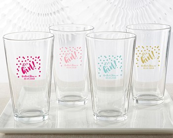 Personalized 16 oz. Pint Glass - It's a Girl