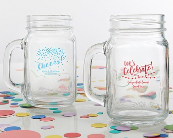 Personalized 16 oz. Mason Jar Mug - Party Time
