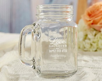 Personalized 16 oz. Mason Jar Wedding Favors - Over 100 Designs