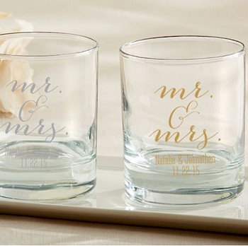 Personalized Rocks Glasses - Mr. & Mrs.