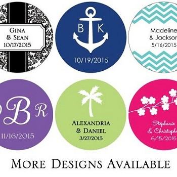 Personalized Round Stickers Set of 48