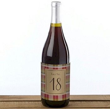 Fall Wine Bottle Label Table Numbers (1-20)