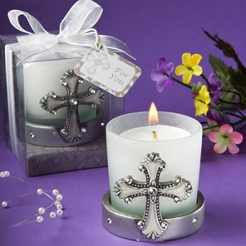 Religious Cross Themed Candle Holders