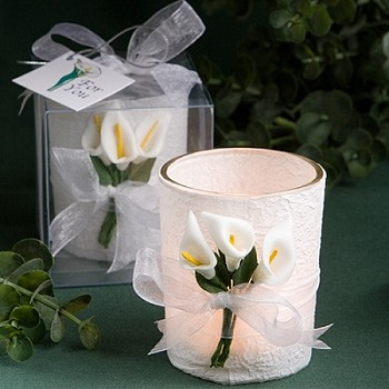 Calla Lily Design Votive Candle