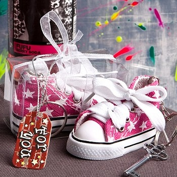 Oh So Cute PinkBaby Sneaker Key Chain