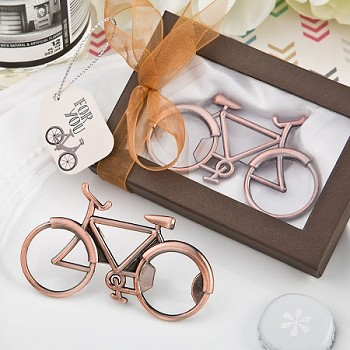 Vintage Bicycle Antique Copper Color Metal Bottle Opener