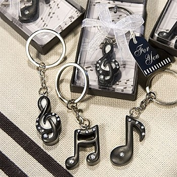 Musical Note Key Chain