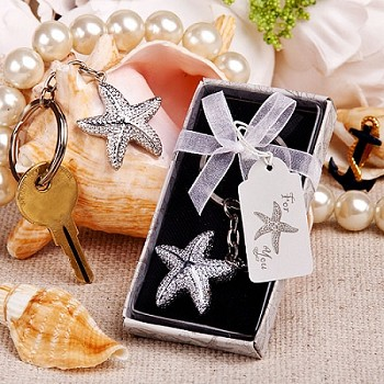 Brilliant Starfish Key Chain