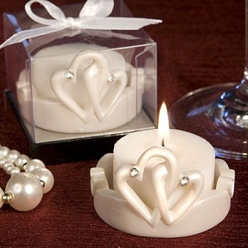 Interlocking Hearts Tealight Holder