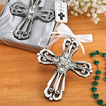 Silver Cross Ornament - Religious Favor