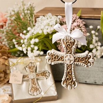 Vintage Cross Ornament - Religious Favor