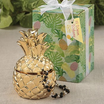 Pineapple Design Jewelry and Trinkets Box
