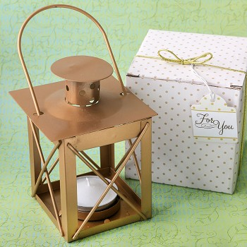 Matte Gold Luminous Lantern