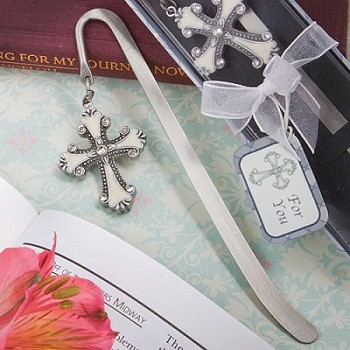 Cross Themed Bookmark Favors