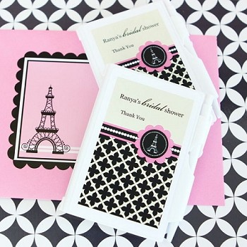 Personalized Notebook Favors - Parisian Party
